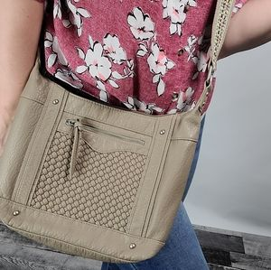 Maurices Taupe Crossbody Purse
